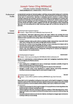 James Innes Group - CV Center - France (FR) - CV Resume Example 2