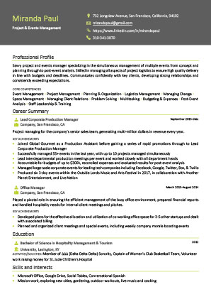James Innes Group - CV Center - France (FR) - CV Resume Example 4